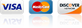 Accepted Credit Cards Visa MasterCard Discover for Service and Delivery Payments